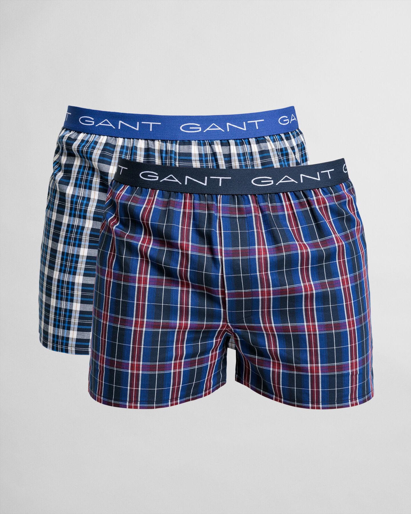 2er-Pack Boxershorts Tartan-Muster/Blau