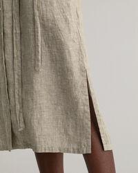 Leinen Chambray Hemdblusenkleid