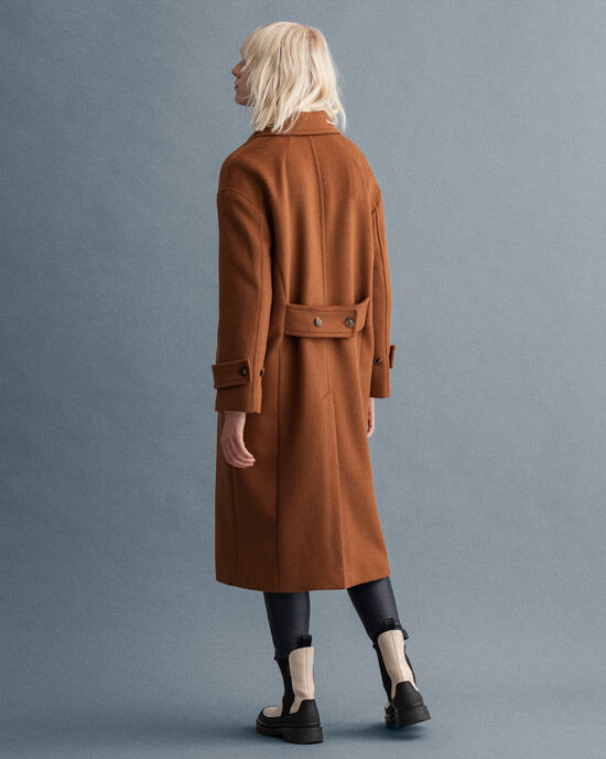 Kokon-Mantel aus Wollmischung