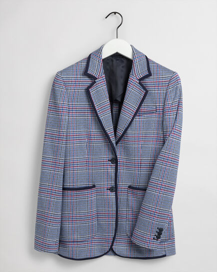 Jersey Blazer mit Karomuster