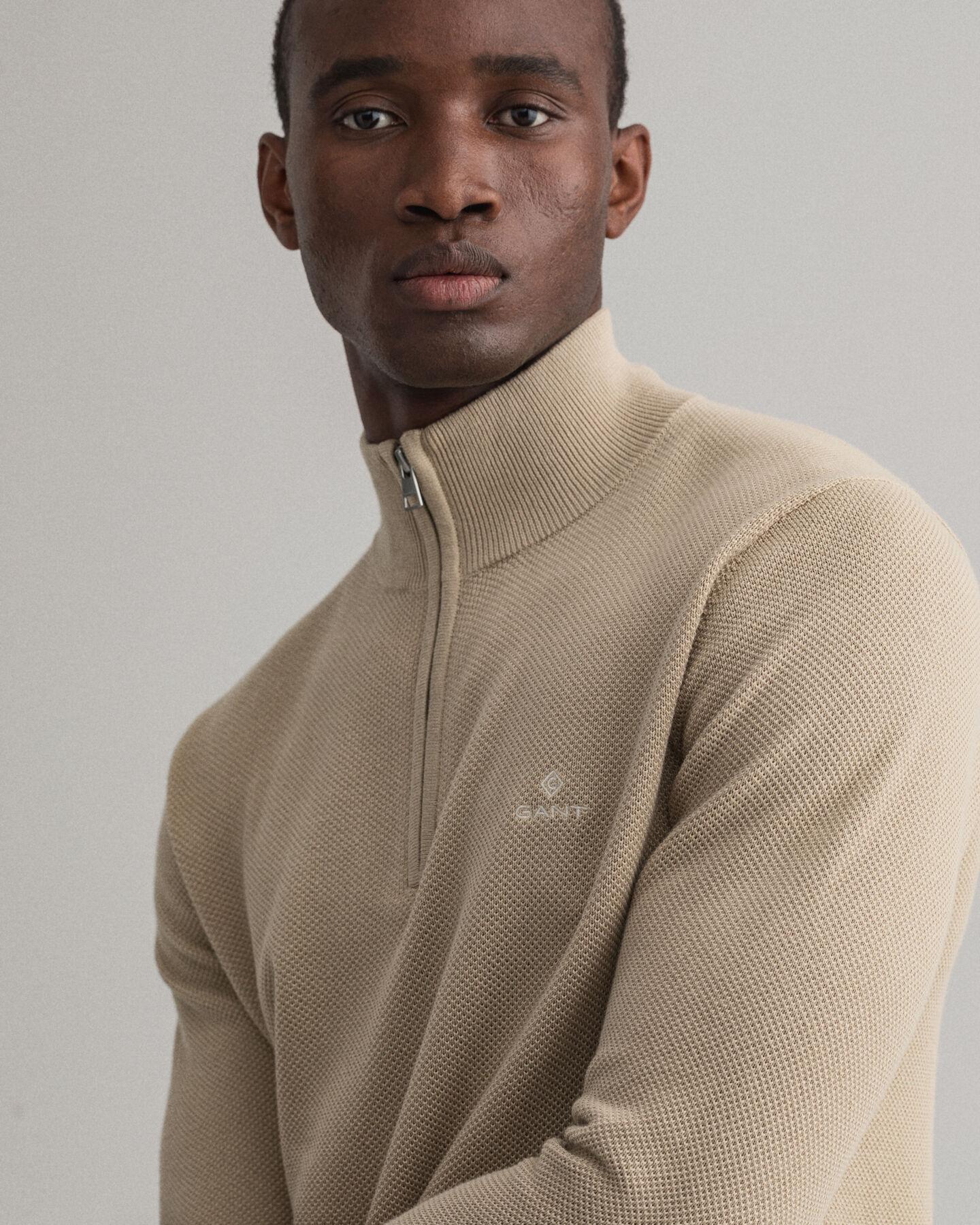 Troyer aus Baumwoll-Piqué