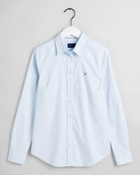 Stretch Banker Oxford-Bluse
