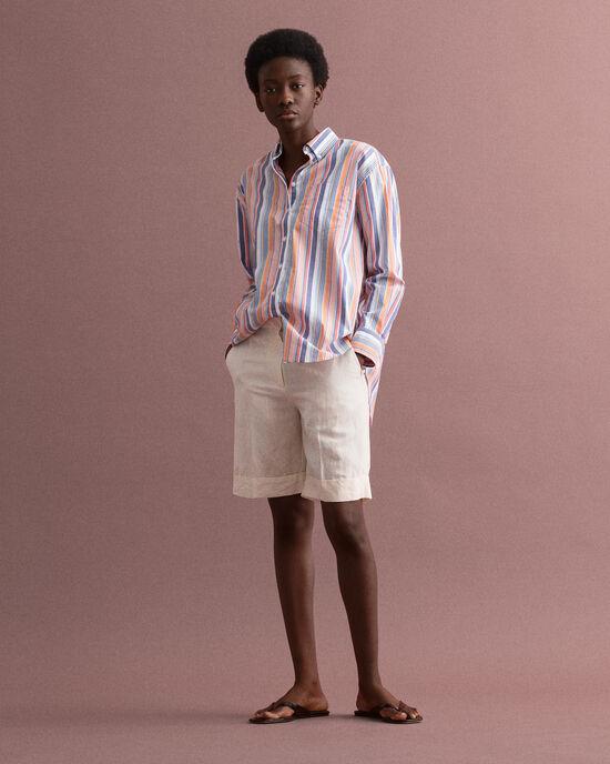 Lange Shorts aus Leinenmischung