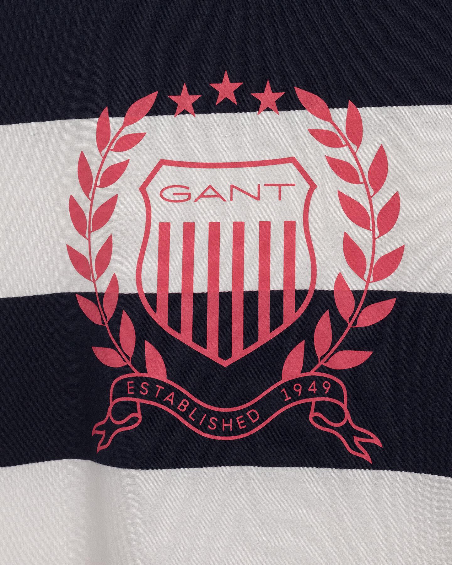 Crest T-Shirt mit Streifen