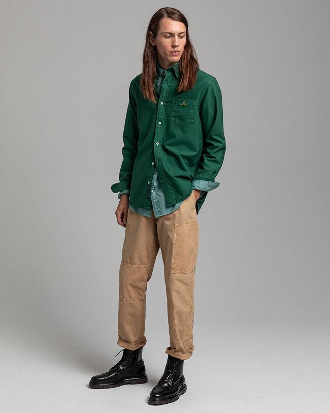 Stückgefärbtes Regular Fit Oxford-Hemd