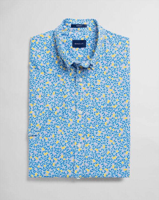 Lemonade Print Regular Fit Kurzarm Hemd