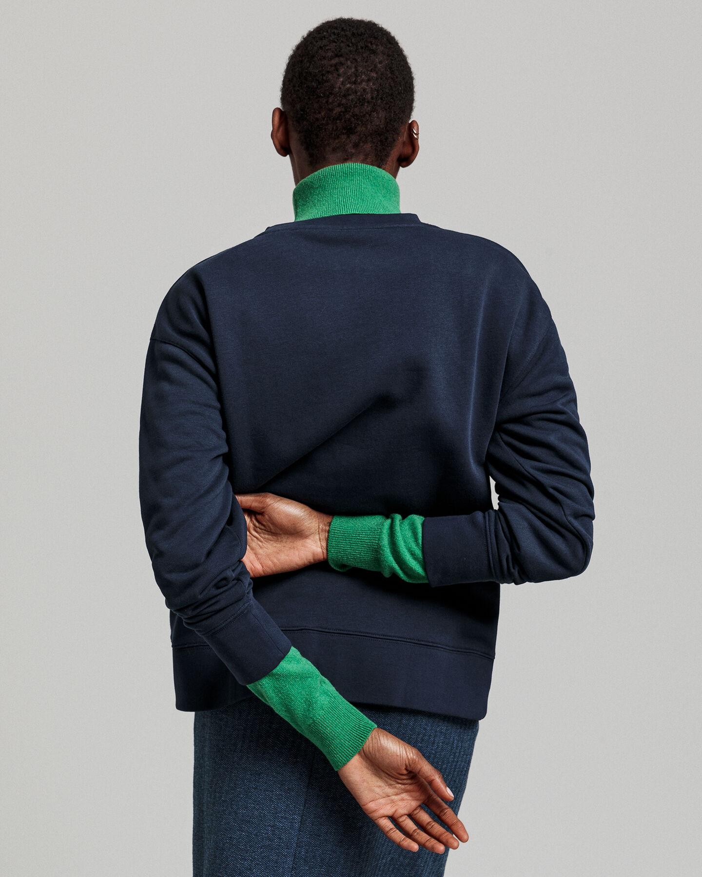 Rundhals-Sweatshirt mit farbiger Grafik