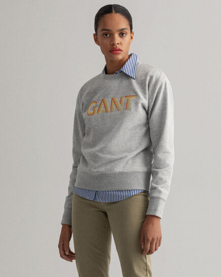 Gradient Graphic Rundhals-Sweatshirt