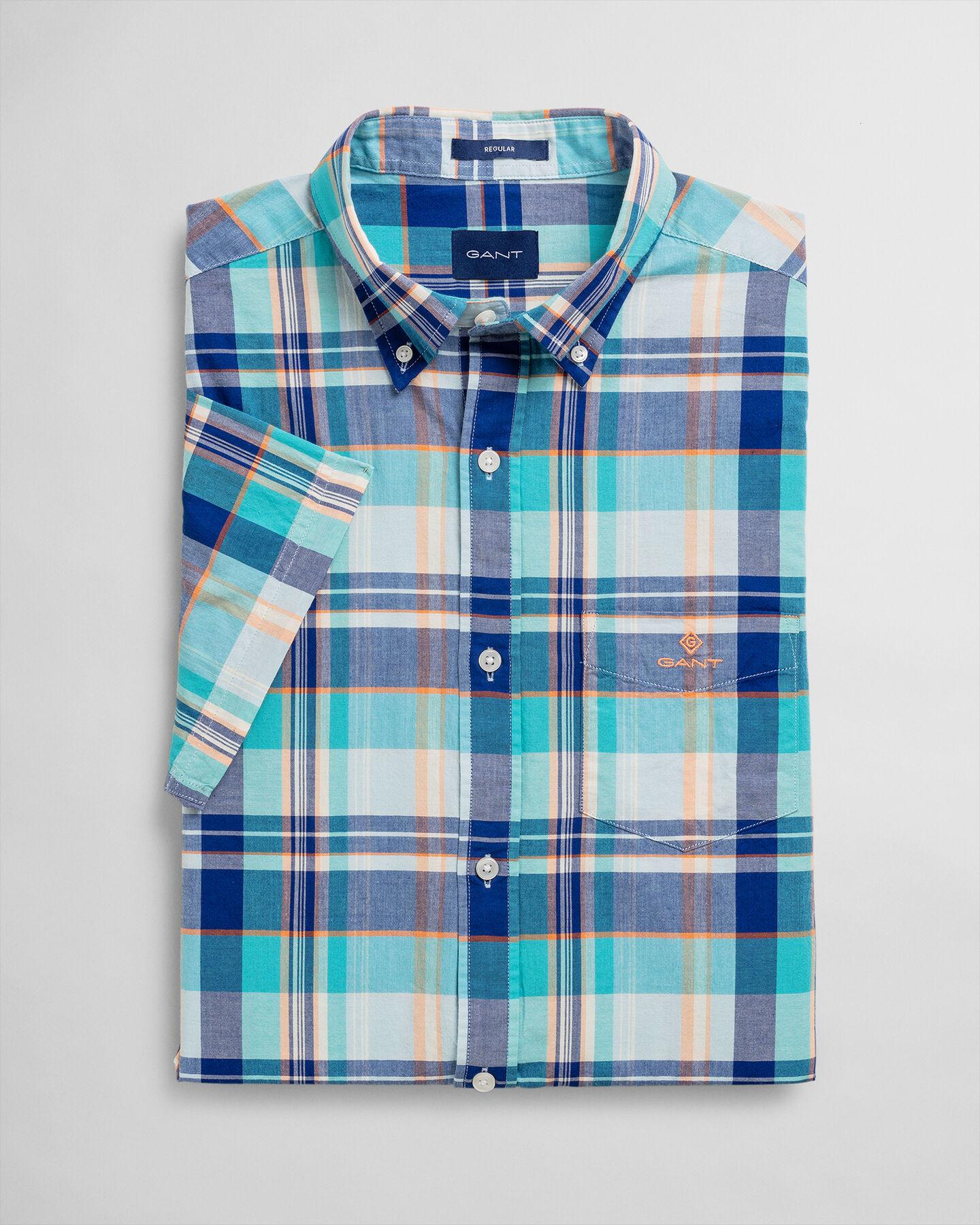 Classic Regular Fit Madras Kurzarm Hemd