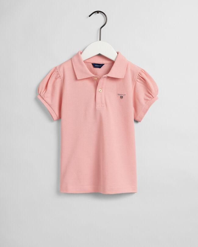 Girls Original Piqué Poloshirt mit Puffärmeln
