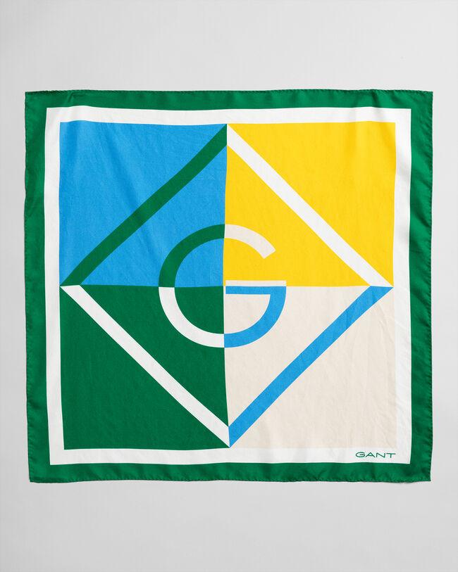 Iconic G Seidenschal im Blockfarbendesign