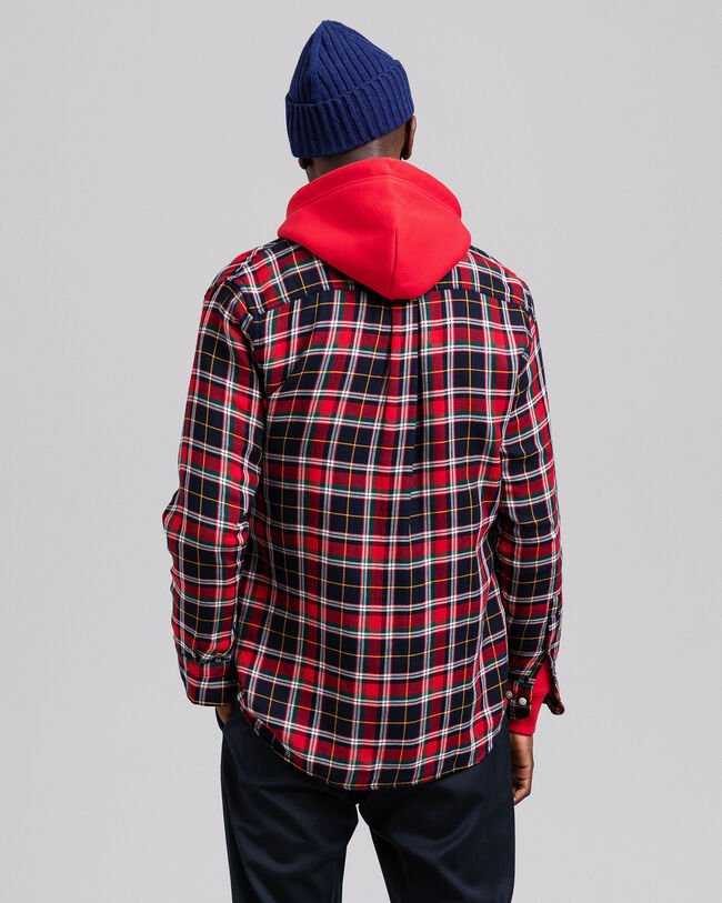 Regular Fit Hemd aus doppellagigem Flanell