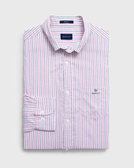 Leichtes Regular gestreiftes Oxford Hemd