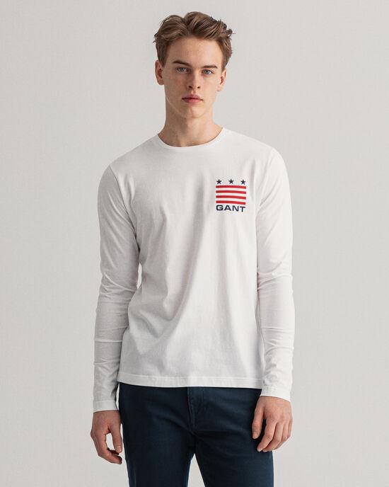 Retro Shield Langarm-T-Shirt