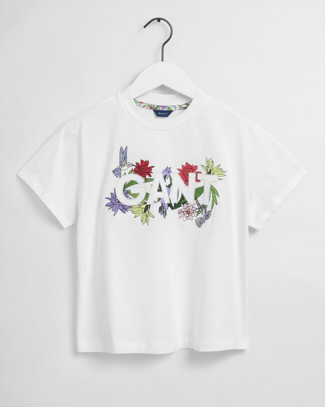 Teen Girls Flower Logo T-Shirt