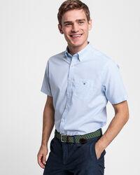 Regular Fit Banker Broadcloth Kurzarm Hemd