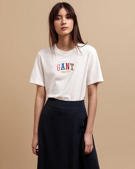 T-Shirt mit mehrfarbiger Grafik