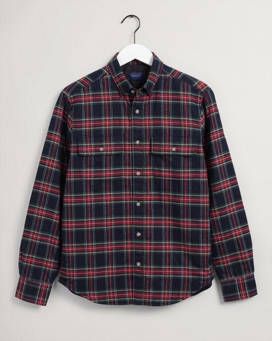 Wattierte Karo-Hemdjacke