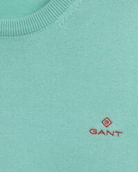 Kontrast Rundhalspullover aus Stretchbaumwolle