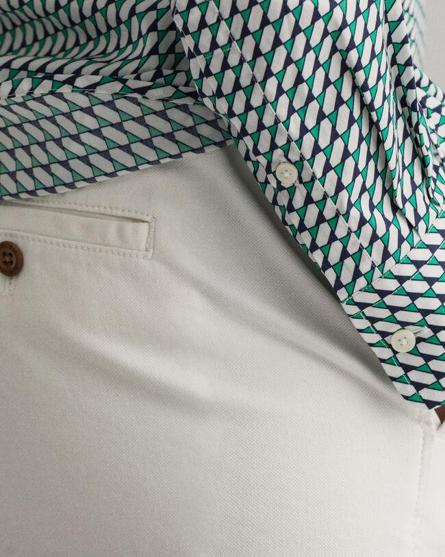 Stretch Broadcloth Bluse mit geometrischem Print