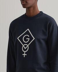 Graphic Logo Rundhals-Sweatshirt