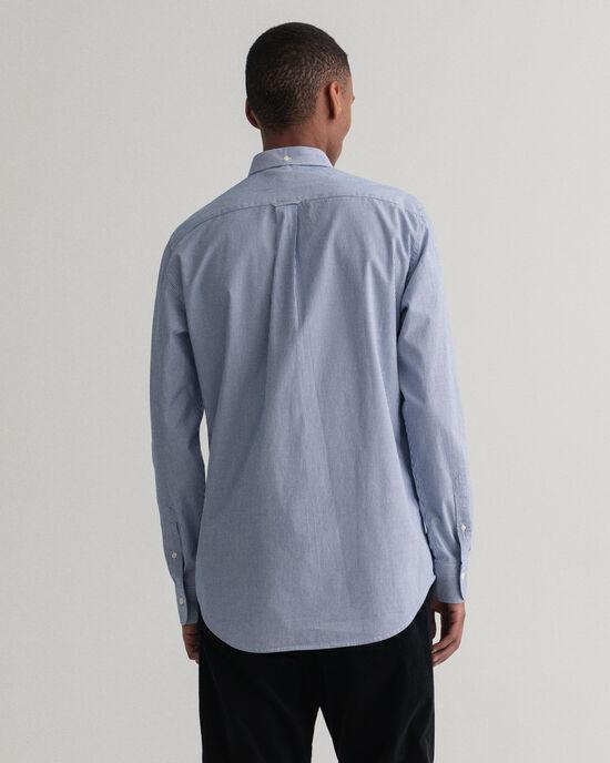 Regular Fit Contrast Broadcloth Hemd mit Banker-Streifen