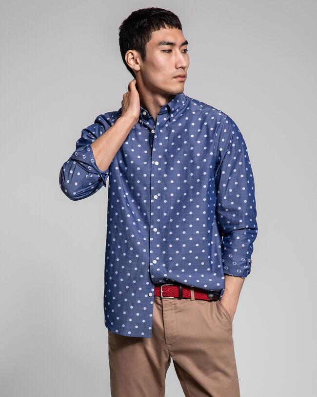 Polka Dot Fil Coupé Regular Fit Hemd