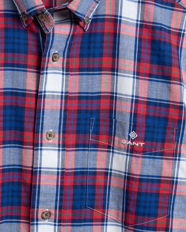Regular Fit Washed Broadcloth Hemd mit Karomuster