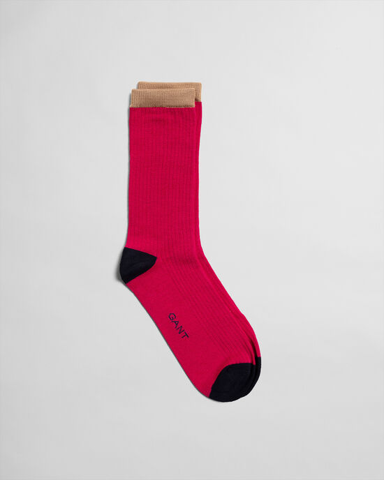 Gerippte Socken im Blockfarbendesign