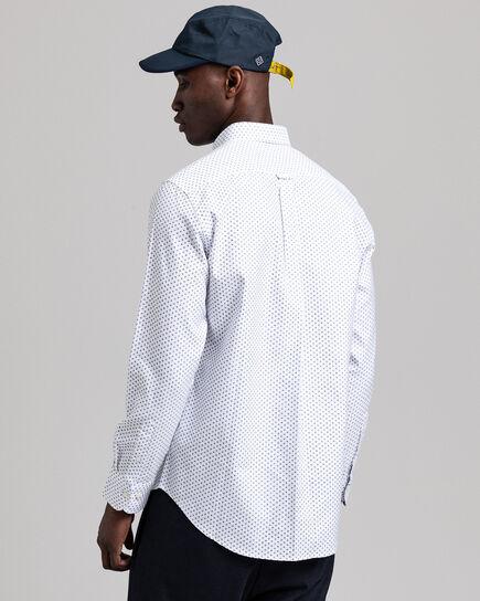 Geometric Floral Regular Fit Hemd mit Print