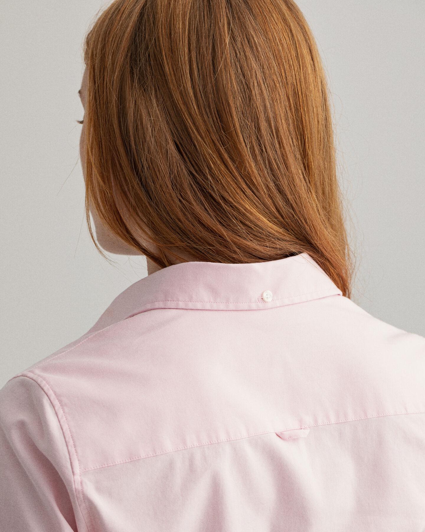 Stretch Kurzarm Oxford-Bluse