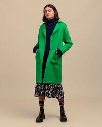 Melierter handgenähter Mantel