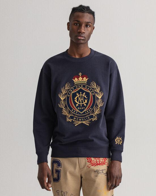 Royal Crest Rundhals-Sweatshirt
