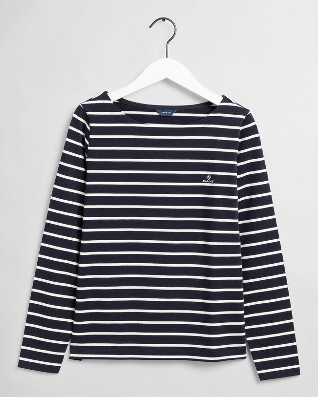 U-Boot-T-Shirt mit Marinestreifen