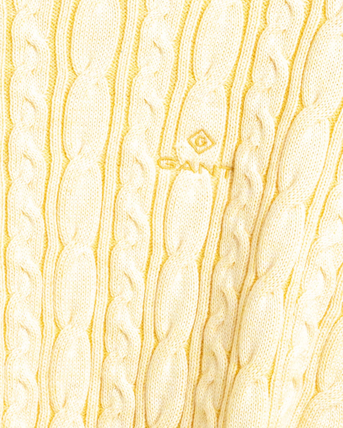 Sunfaded Rundhalspullover mit Zopfmuster