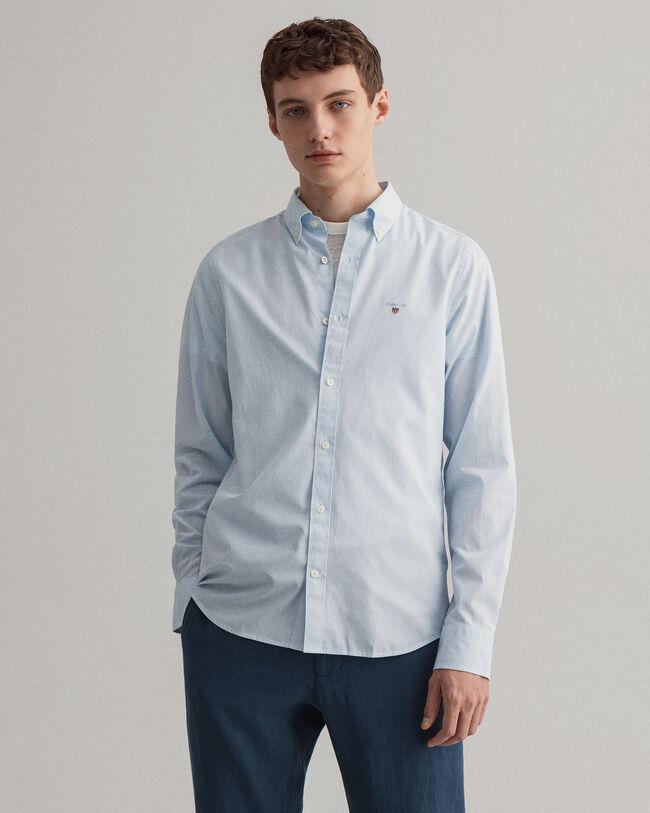 Slim Fit Broadcloth Hemd mit Banker-Streifen