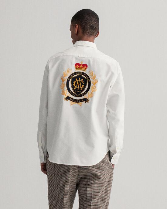 Regular Fit Crest Hemd mit Stickerei