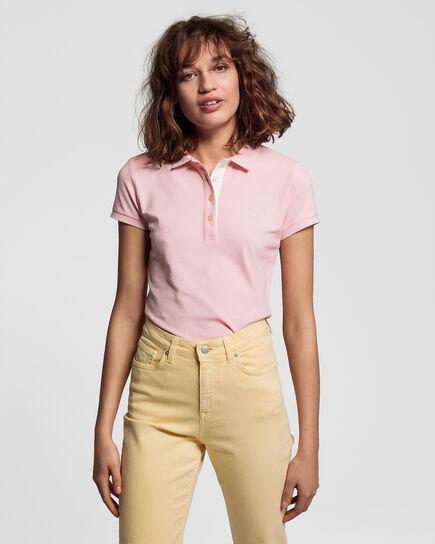 Piqué Rugger Poloshirt mit Kontrastkragen