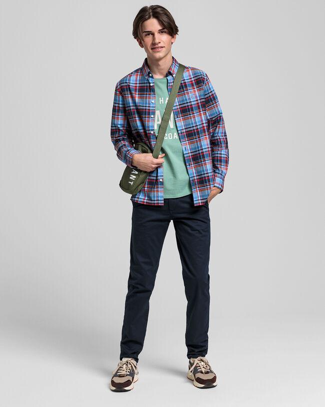 Teen Boys Preppy Madras Hemd