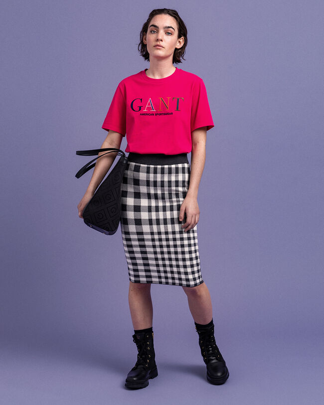 T-Shirt mit farbiger Grafik