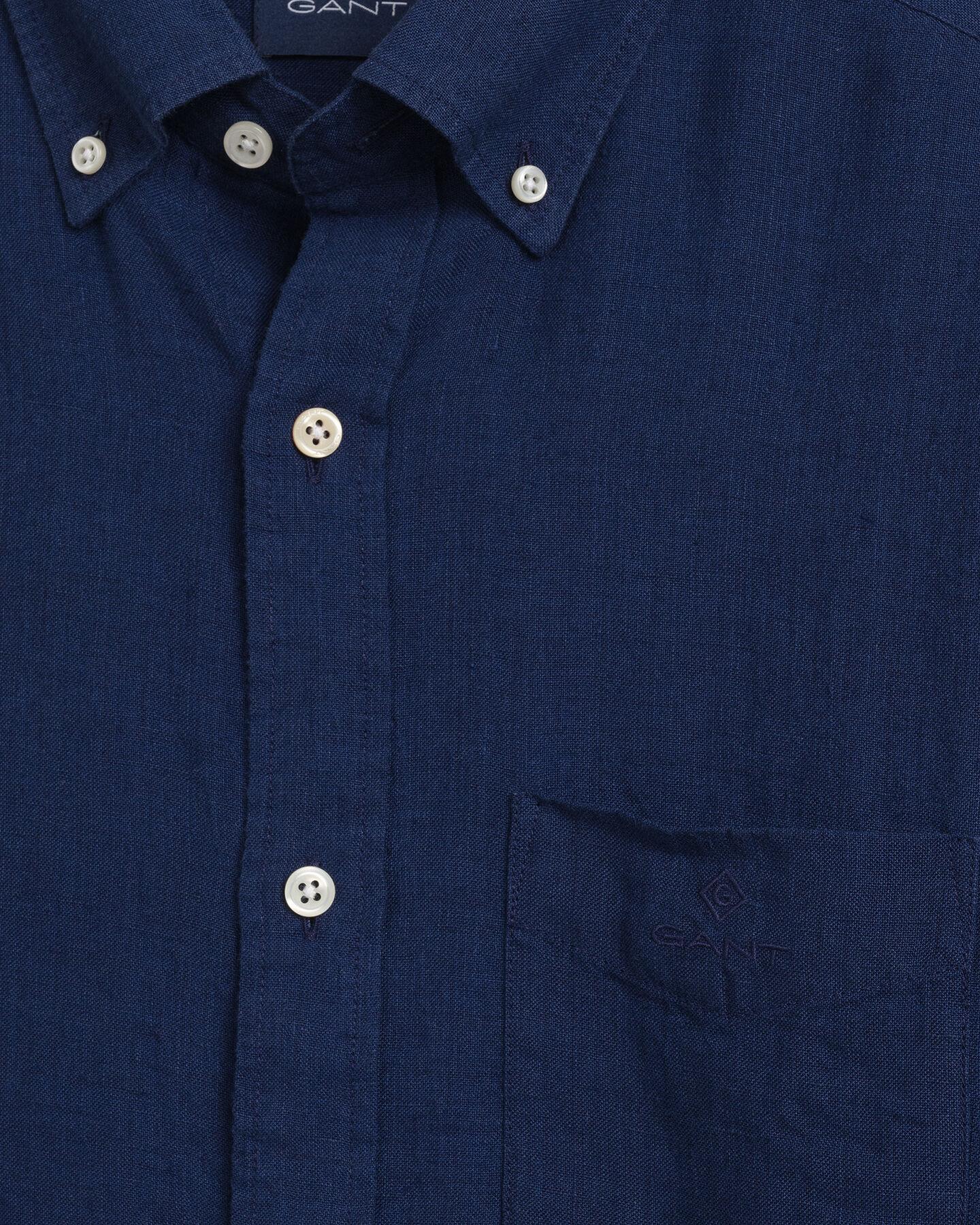 Regular Fit Leinen Hemd