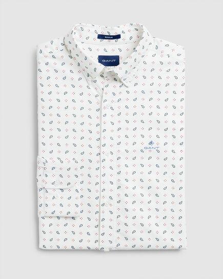 Paisley Print Regular Fit Oxford-Hemd
