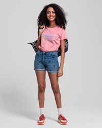Teen Girls Denim Shorts mit Stickerei