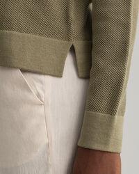 Rundhalspullover aus Baumwoll-Piqué