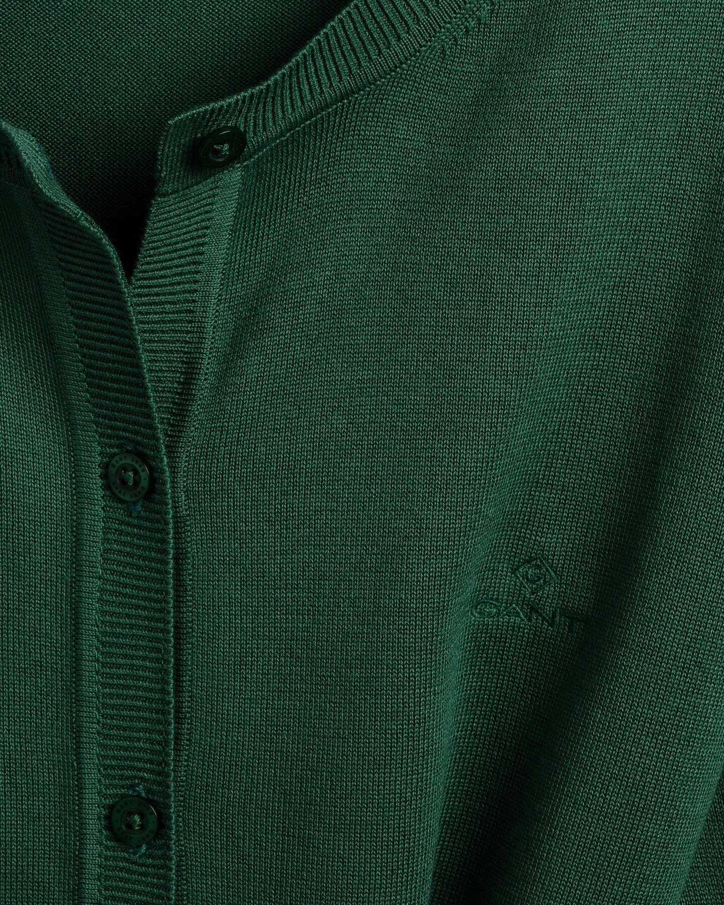 Leichte Rundhals-Strickjacke aus Baumwolle