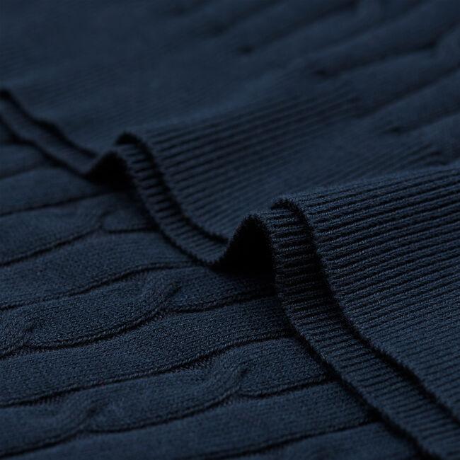 Rollkragenpullover aus Stretch-Baumwolle mit Zopfmuster
