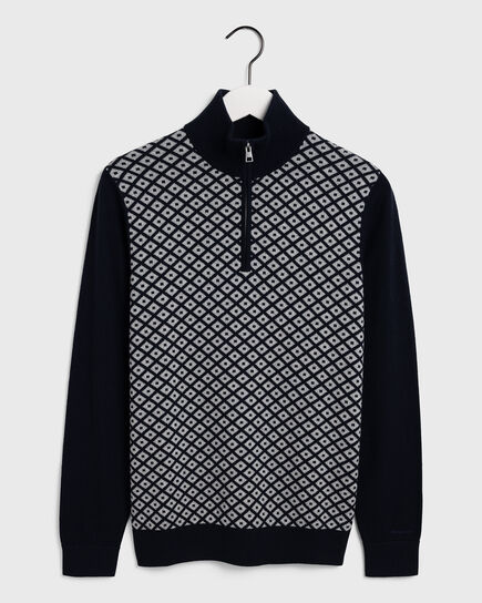Diamond Zip Sweater