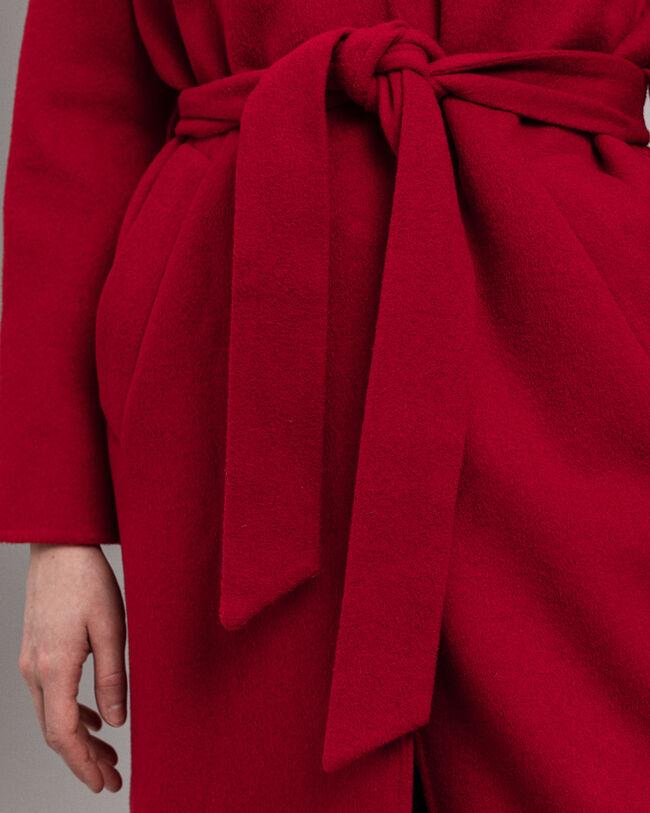 Mantel aus Wollmischung mit Gürtel