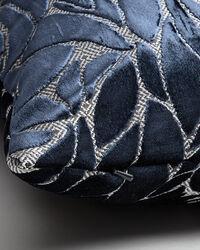 Samt-Kissenhülle mit Blattmuster 40 x 60