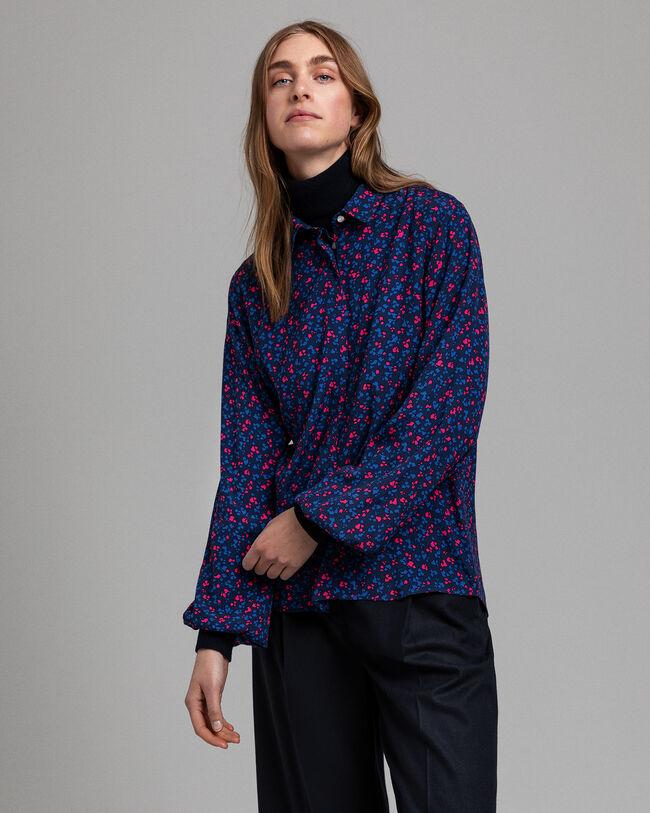Clover Garden Print Viskose Bluse